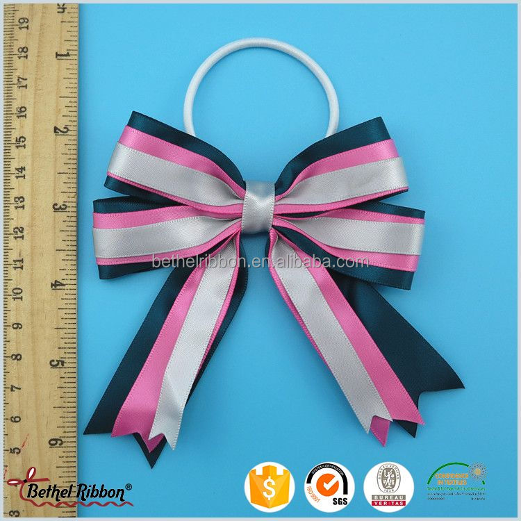Factory useful grosgrain ribbon hair bows with glitter