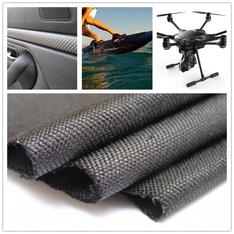 High performance precision cutting light weight carbon fiber fabric roll