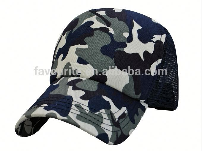 Military Tactical Operator Camo Mesh Trucker Baseball Cap