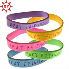 Inspirational Sayings Bracelets Assorted Colors Thin Silicone Wristbands