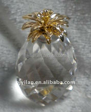 fashion decorative great shape crystal pineapple for home decoration
