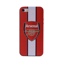 Exclusive 2017 newest design 3D embossed football club cartoon TPU cell phone case for Iphone 5G,5S,5SE,6,6+,7,7+