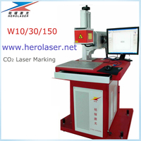 nonmetal furniture eletronic component bamboo wood CO2 laser marking machine