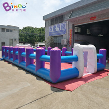 10x5x1.8 Meters Soccer game inflatable human table football pitch game