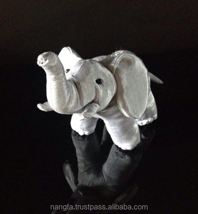 Silk Elephant Plush Animal Cotton Toys