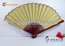 Chinese Bamboo Hand Fans with Cloth Wall Hanging Home Decor