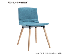 ANJI Fuhe furniture Modern Furniture Wholesale modern cheap leisure plastic tulip living room foam chair with wooden legs