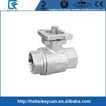 "1/4"" - 4"" ISO 5211 Ball Valve with Threaded End , Manual or Actuator Floating Ball Valves"