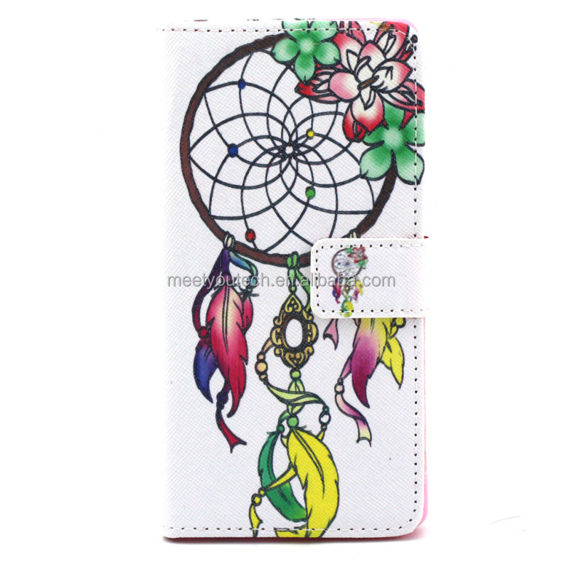 Customize Phone case Printed Leather cover leather flip for nokia asha 501