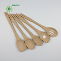 Chefs beech wooden spatula set of 5