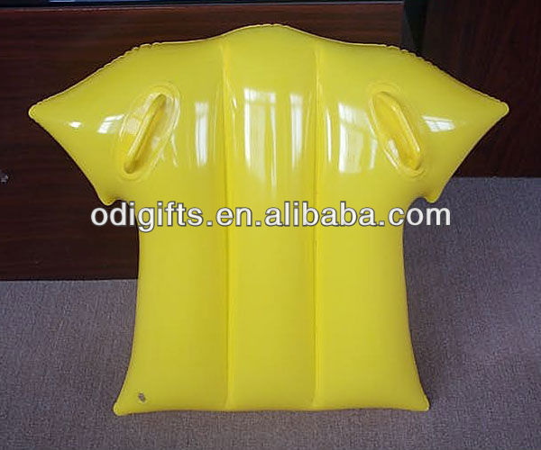 pvc inflatable kids surfboard with two handles