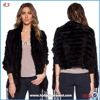 2015 Hotsell fashion ladies wear rabbit fur coat on winter