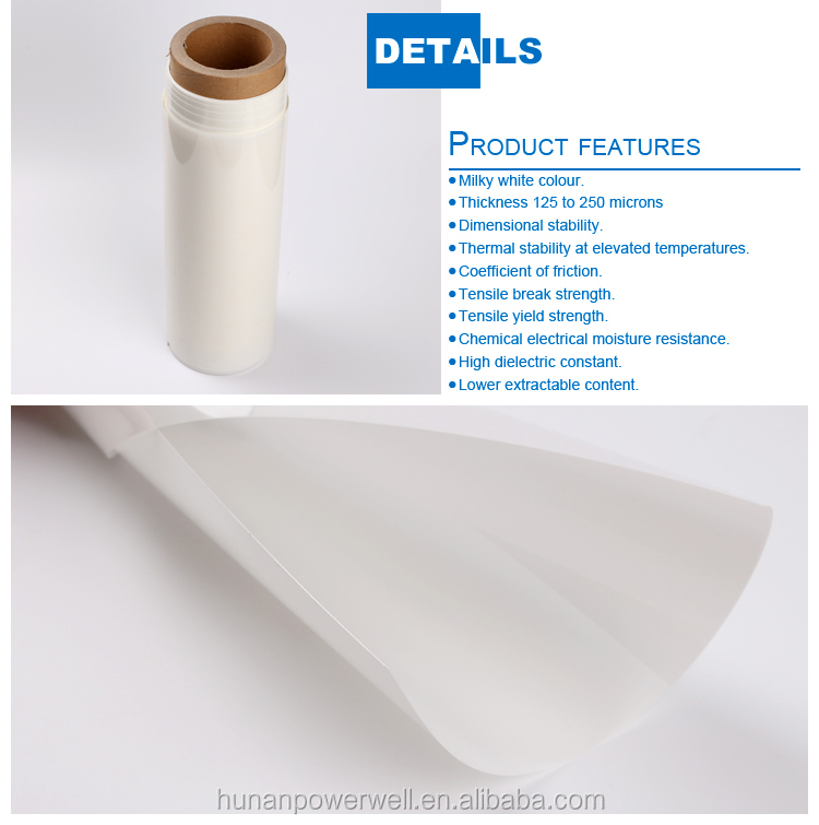 Polyester pet film rolls for electric insulation, polyester film roll