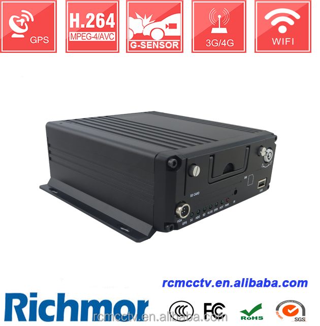hdd dvd recorder for car for Digital Mobile DVR Black kits with OTA PTZ Control with lED screen