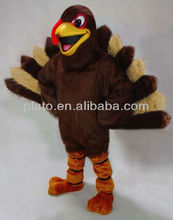 adorable turkey mascot costume/ hot sale plush turkey cartoon character costume