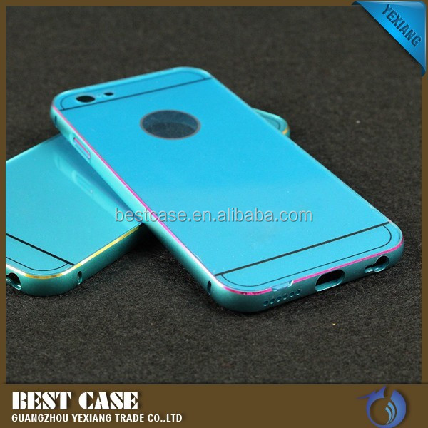 best-selling aluminum bumper ultra-thin plastic back cell phone case cover for iphone 6s plus