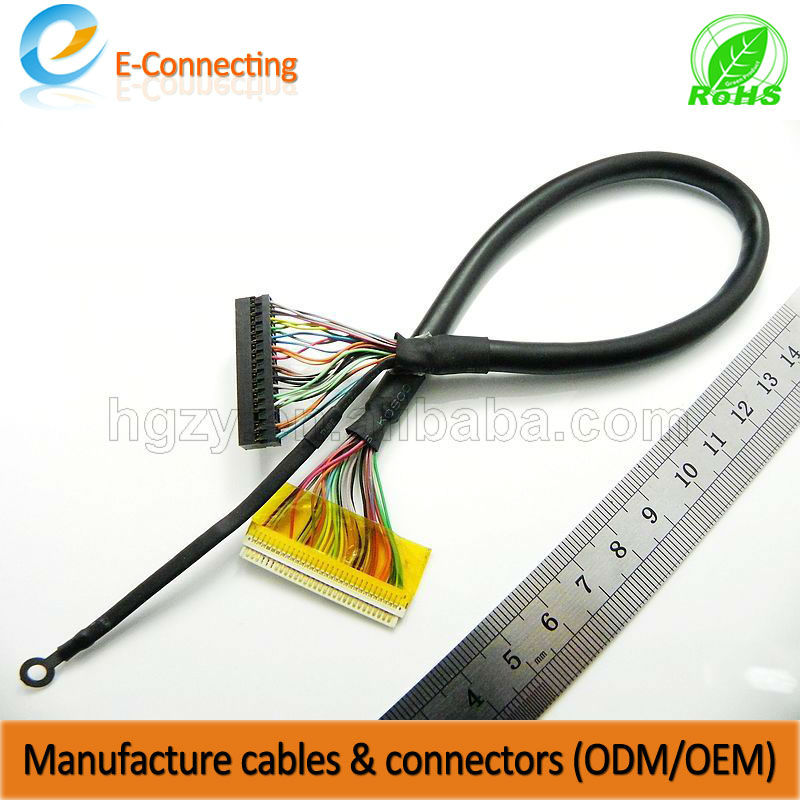 the hot seller extension cable of laptop screen 30 pin lcd