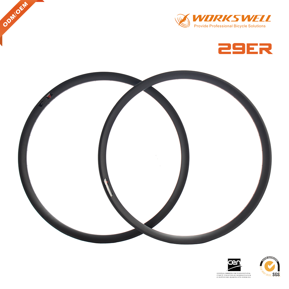29 inch mountain bicyle for clincher/tubular carbon wheelset 29er carbon rims