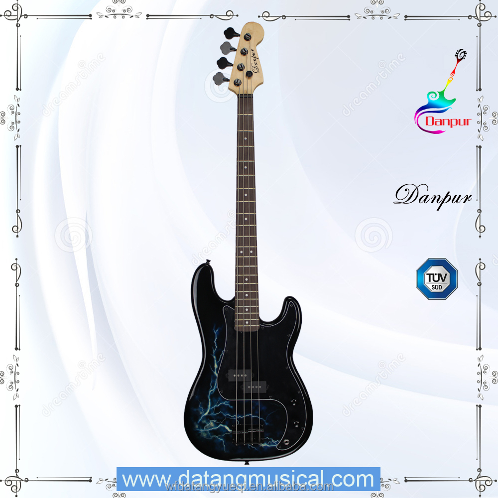 Water transfer cheap electric bass guitar musical instruments