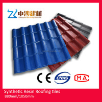 Top quality anti-corrosion PVC Resin roof tiles wholesales