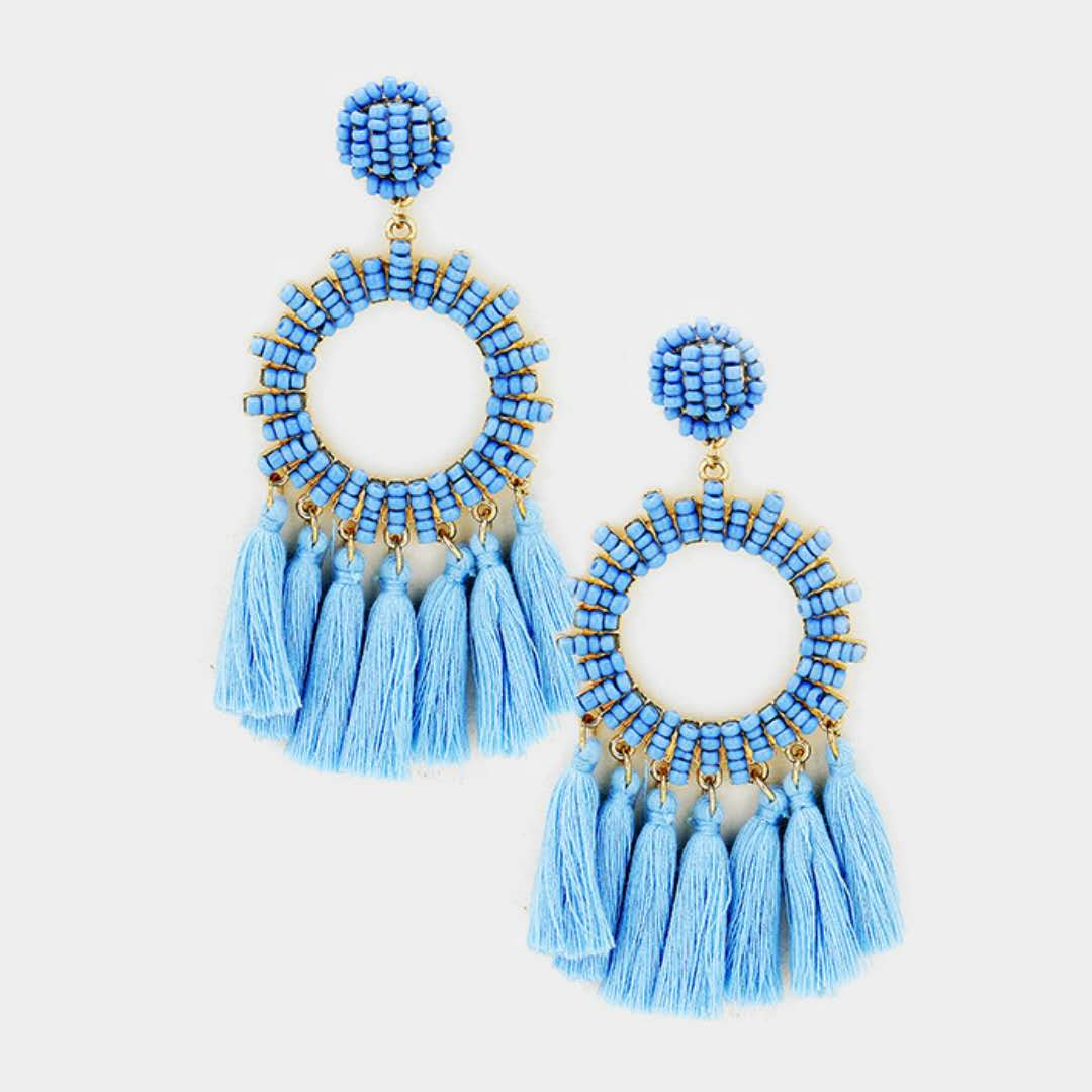 KDA7598 latest artificial wholesale tassel earrings