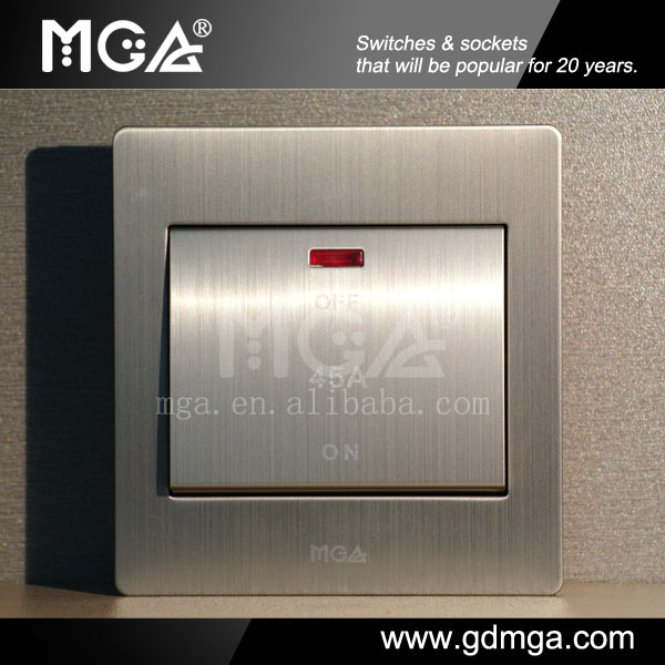 MGA Q9 Series 45A Double Pole Electric Water Heater Switch with Neon
