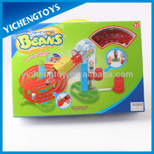 toy railway set plastic jumping bean toy