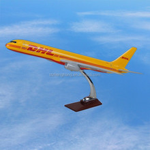 Boeing B757 DHL Scale Model Plane, ISO9001, Excellent quality, OEM, Airlines Souvenir, Business Gift, Decoration