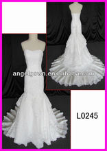 mermaid tier supon tier soft lace polyester women dress woven dress smile neck line bridal dress