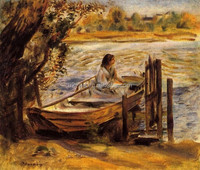 Famous artist painting Young Woman in a Boat for living room