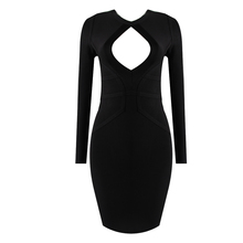 New Black Sexy Rayon Bandage Celebrity Evening Party Women Dress Model