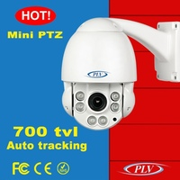 vandalproof ir 10x optical mini auto tracking ptz speed dome security camera