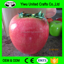 Artificial Apple Large Plastic Fruit Round Red Apples Fake Fruits