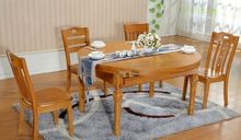 best quality modern solid thick wood slab dining table