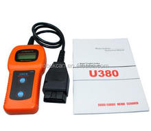 OBD2 U 380 car/automotive diagnostic detector car computer analyzer U380 Check Engine Auto Scanner Trouble Code Reader Clear