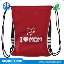 Fugang Cheap Small Size Customized Printed Polyester Drawstring Backpack Bags