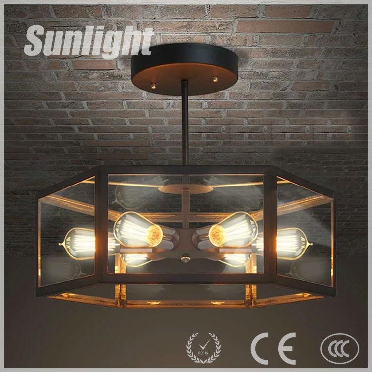 moderne zhongshan fabrik industrie retro loft beleuchtung eisen deckenleuchte glas pendelleuchte. Black Bedroom Furniture Sets. Home Design Ideas
