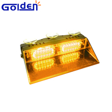 12 LED Amber Car Strobe Flash Dash 12V Emergency amber dash Light