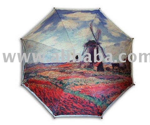 """Field of tulips in holland""print 3steps auto folding umbrella"