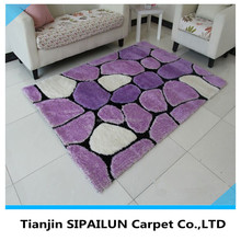 Popular Cute Purple Hand-Tufted commercial shaggy carpet
