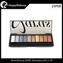 wholesale market cosmetics 10 color makeup palette eyeshadow