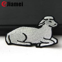 Clothes kids sheep cartoon embroidery designs label