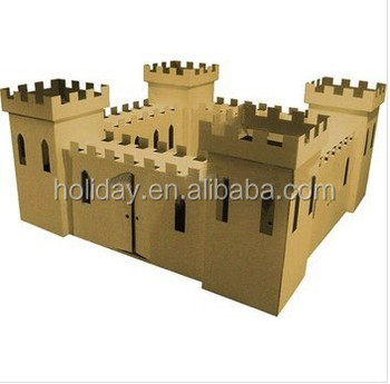 how to make a castle wall out of cardboard