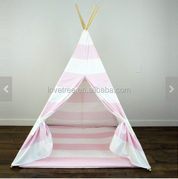 Pink Chevron pop up kids teepee toy baby roof beach tipi tent play tent kids toys for kids