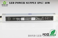 High quality CE RoHS EMC LVD 5050 smd led strip power supply, 220v 12v ac/dc led transformer, 12v led power supply 40w