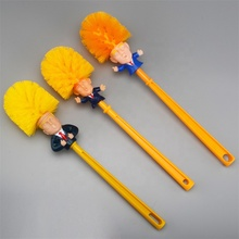 YiJia Hot Sale Yellow Plastic Spoof Funny Trump Toilet Cleaner <strong>Brush</strong>