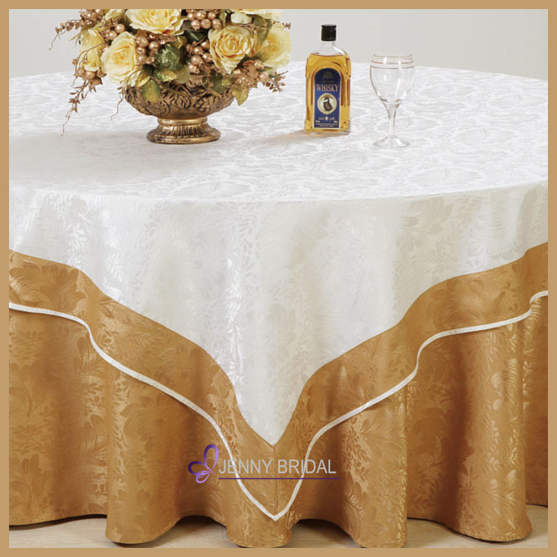 DMK-G14 wholesale modern damask banquet table cloth weights for wedding