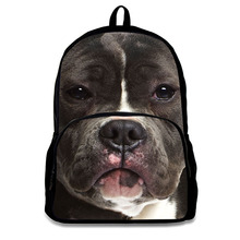 Cheap Sublimation Dog Face School Bags Backpacks for Children Girls