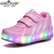 Electro Light Up 1 Wheels Skate Roller Shoes For Kids Adults