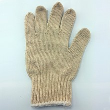 disposable cotton hand knitted skin color gloves for sale